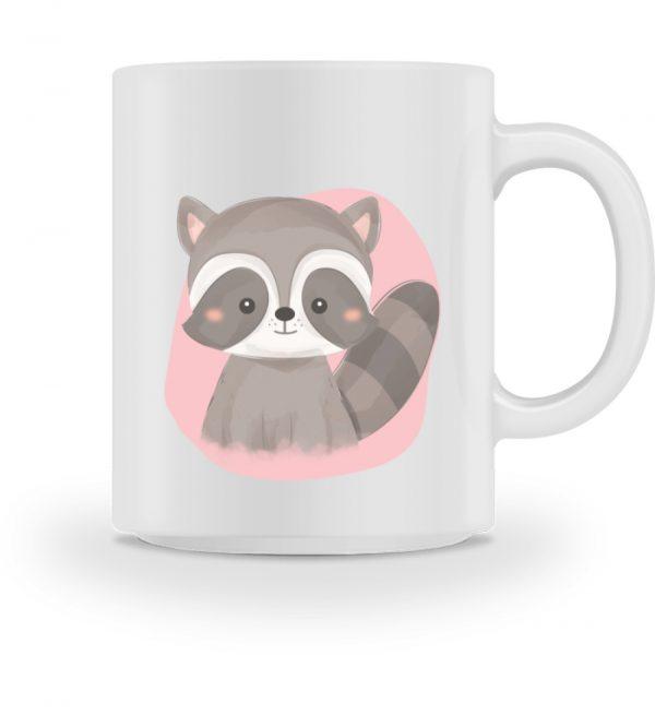 Tasse mit süßem Waschbär - Tasse-3